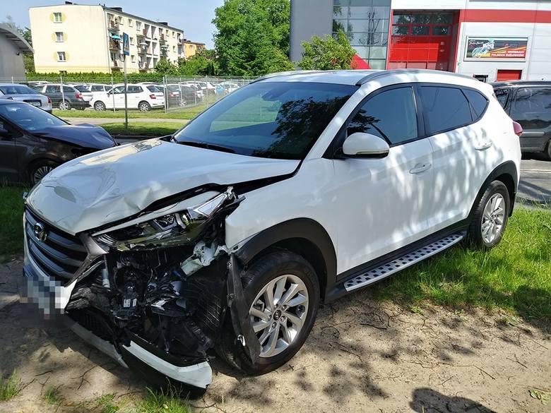 Do wypadku doszło w środę, 12 czerwca, na ul. Olimpijskiej w Gorzowie. Czołowo zderzyły się hyundai i volkswagen. Zobacz też: Gorzów. Burza z gradem