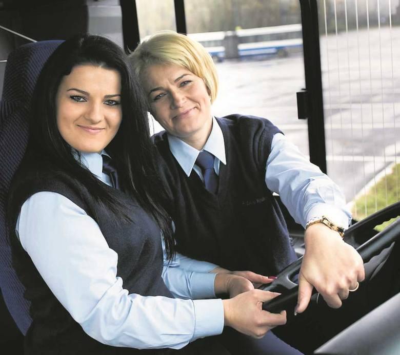 Justyna (z lewej) i Ewa Haber (z prawej) uśmiechem łagodzą stresujące sytuacje na trasie