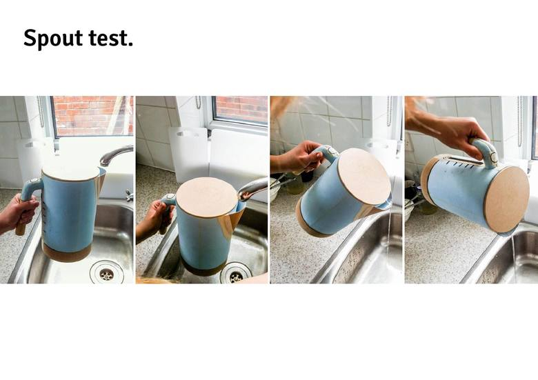 Test dziubka - czy wygodnie leje się wodę bez otwierania pokrywy