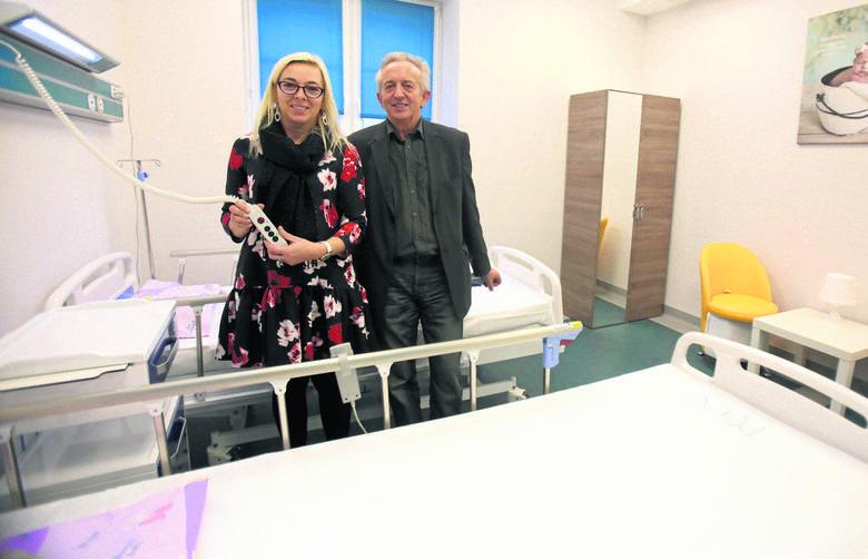 Kornelia Cieśla, dyrektor SS nr 2 w Bytomiu i Antoni Jankowski, pełnomocnik ds. inwestycji szpitala, osobiście nadzorowali każdy element budowy i wyposażenia