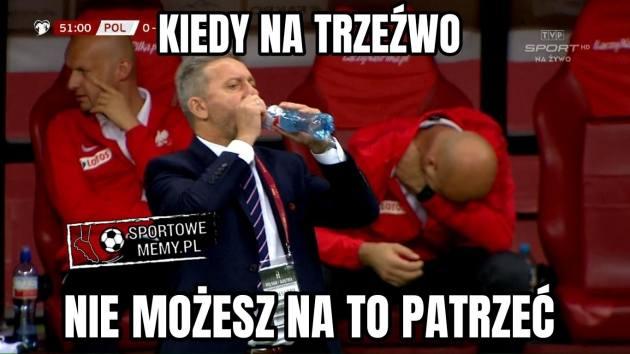 Kibice mają dość tak słabej gry reprezentacji Jerzego Brzęczka i tworza memy