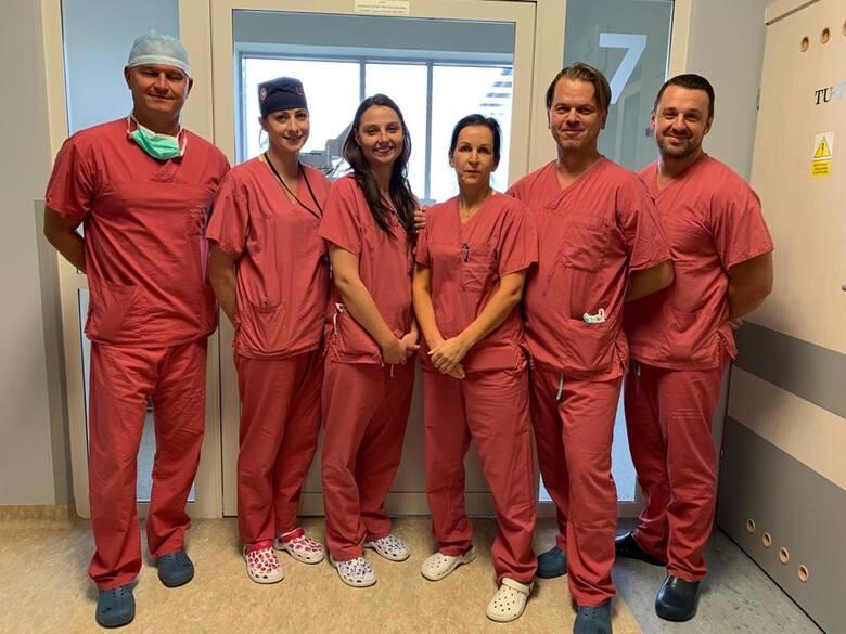 Operacja z wykorzystaniem robota da Vinci w Wojewódzkim Szpitalu Zespolonym w Białymstoku.