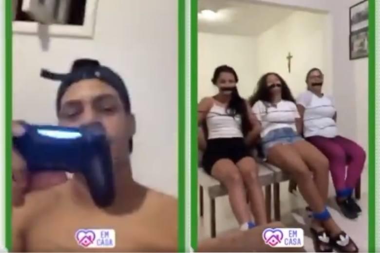 Piłkarz zakneblował kobiety, żeby grać na konsoli
