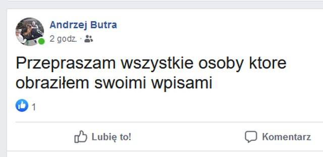 Przeprosiny Andrzeja Butry