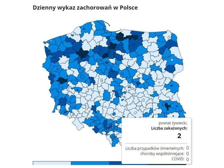 Dziś w całej Polsce potwierdzono 2167 nowych zakażeń koronawirusem. W województwie śląskim to 270 przypadków. Ile było w twoim mieście lub powiecie?
