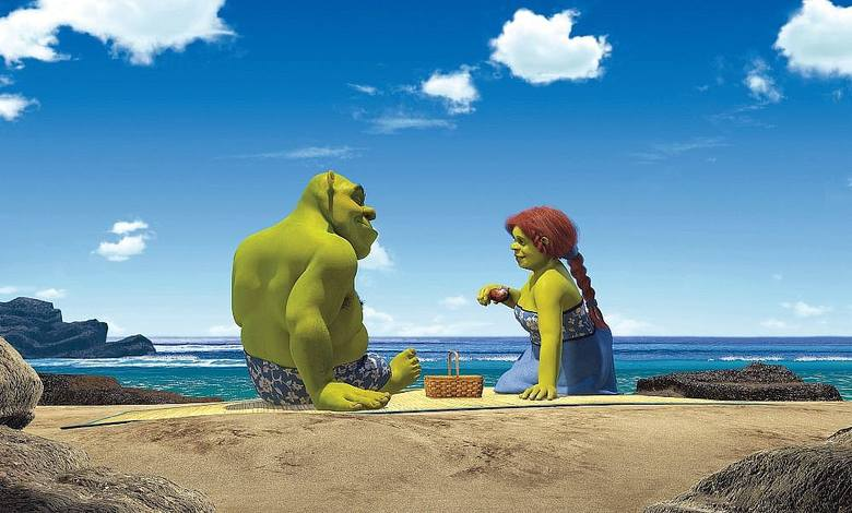 """""""Sherk II""""Kontynuacja świetnej komedii! Shrek i jego żona, księżniczka Fiona z królestwa Zasiedmiogórogrodu, otrzymują zaproszenie"""