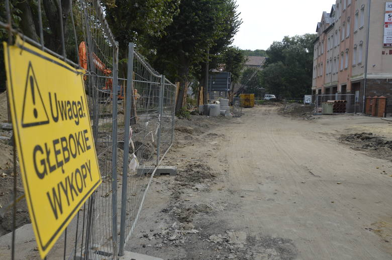 remont ulicy w Gorzowie