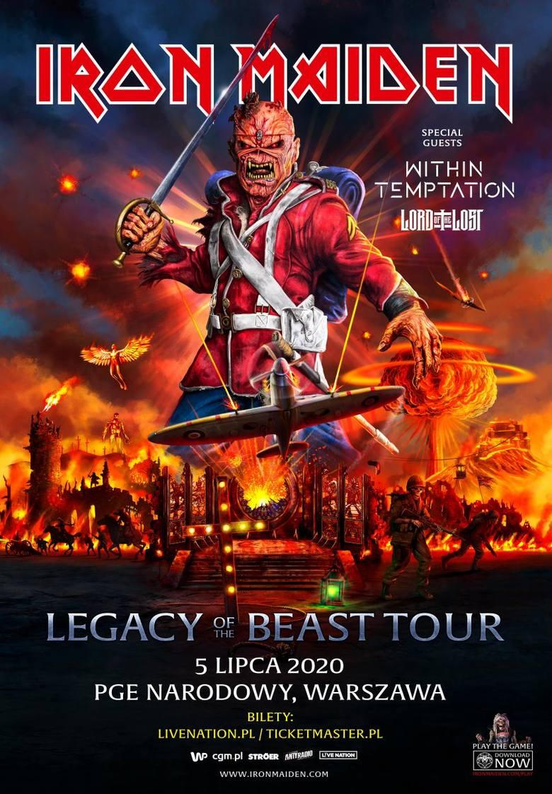 Tak prezentuje się oficjalny plakat zapowiadający przyszłoroczny koncert Iron Maiden w naszym kraju.