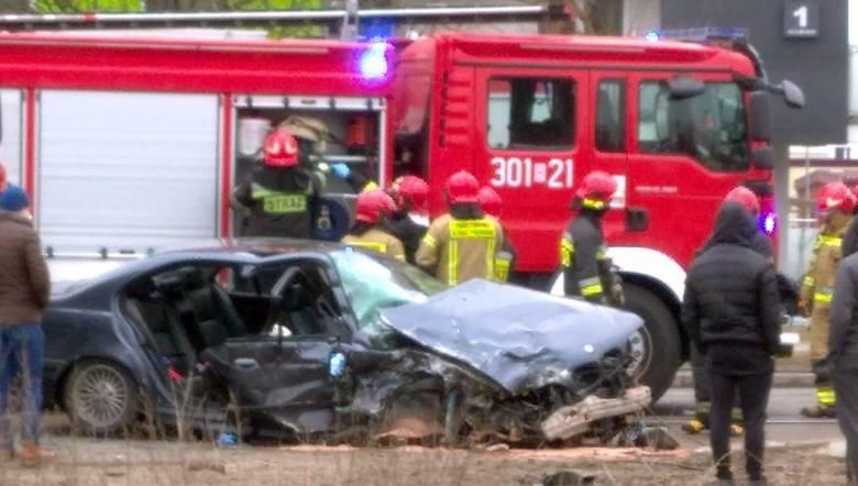 Wypadek z udziałem policjanta na ul. Towarowej w Białymstoku - 21.03.3021