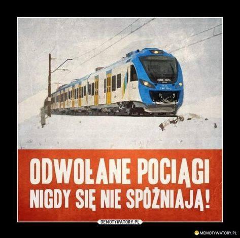 Dzień Kolejarza - najlepsze memy. Opóźnienia pociągów, przestarzałe torowiska, zawodne Pendolino. Z tego śmieją się Internauci