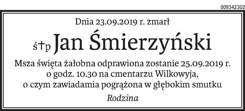 Nekrologi i Kondolencje z dnia 24 września 2019 roku