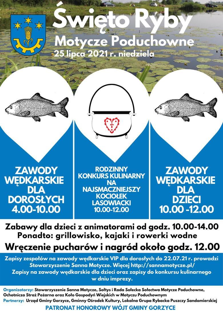 Święto Ryby w Motyczu Poduchownym: w niedzielę zawody wędkarskie i konkurs kulinarny