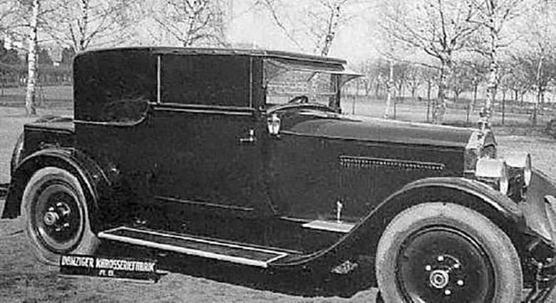 Packard z połowy lat 20. z elegancką karoserią wykonaną w Danziger Karosseriefabrik. Taki typ nadwozia nosił nazwę coupé-landaulet