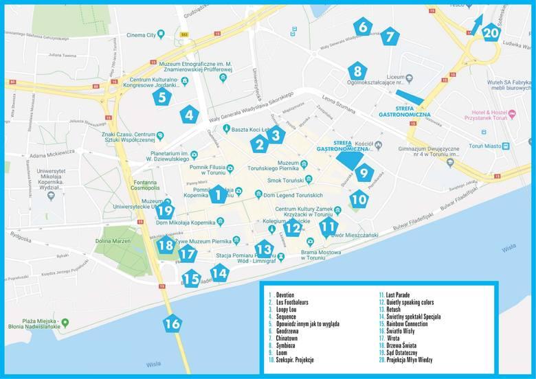 Mapa na Bella Skyway 2019