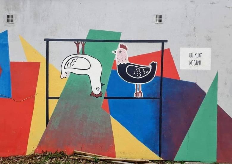 W Poznaniu na muralach często pojawia się gra słów, tak jak na tym przy ul. Potockiej.Poznański street-art zachwyca, ale żeby go odkryć, trzeba trochę