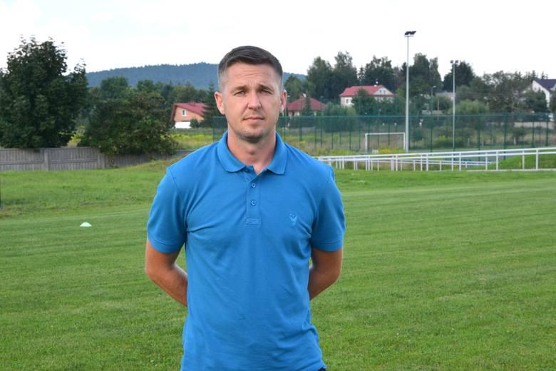 Paweł Czaja, trener Olimpii Pogoni Staszów.