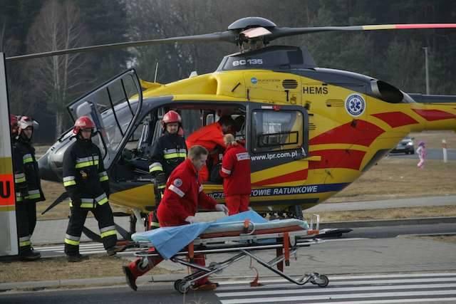 Groźny wypadek na DK 10 z udziałem motocykla