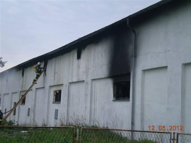 Palił się obiekt o powierzchni 800 m kw.