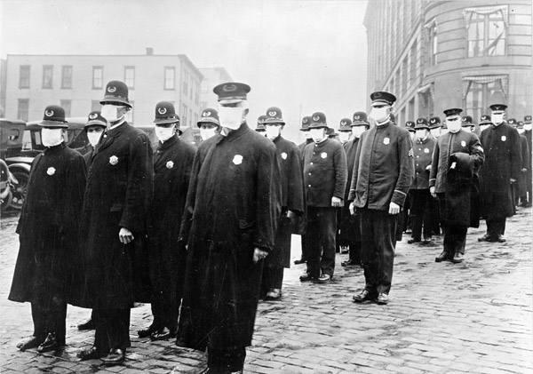 Demonstracja postępowania z chorymi, Waszyngton 1918 rok