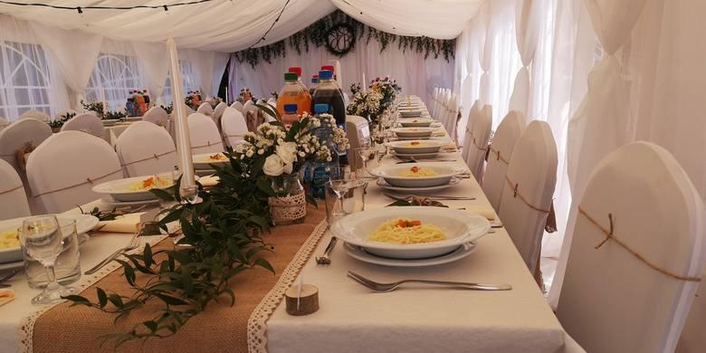 Spółdzielnię Socjalną Dębnianka - przyjęcie -dekoracja sali