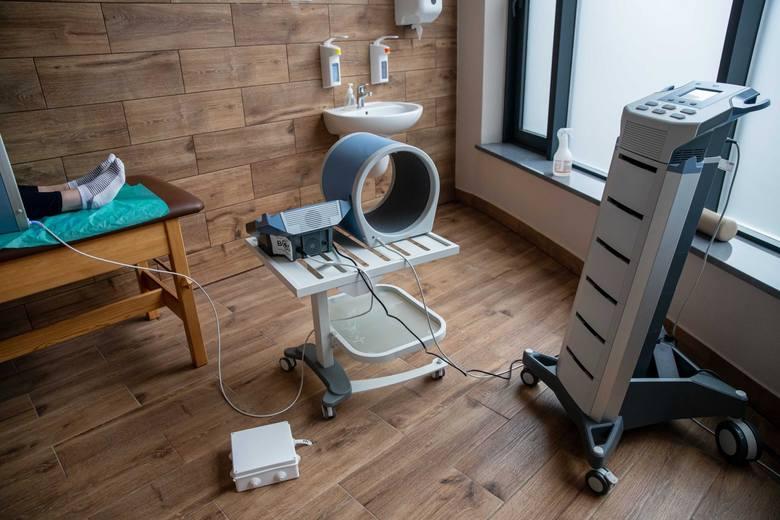 Rehabilitacja pocovidowa w szpitalu w Supraślu.