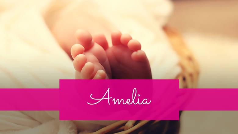Imię Amelia zajęło 9. miejsce wśród imion dla dziewczynek. W pierwszej połowie 2019 roku nazwano tak 2339 dzieci.
