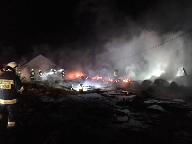 Kołodzież. Kilkanaście zastępów strażaków walczyło z ogniem