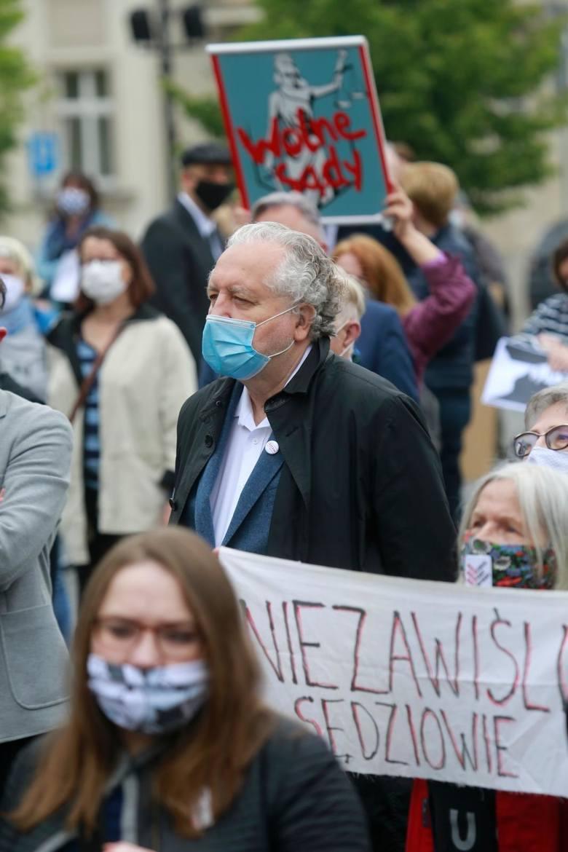 Manifestacja przed Sądem Najwyższym w Warszawie