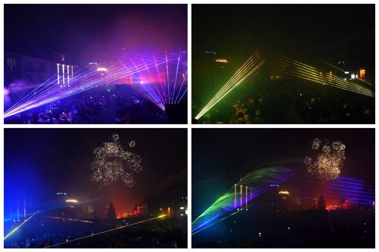 Pokaz laserów powitał rok 2020. Sylwester miejski Białystok zorganizował na Rynku Kościuszki