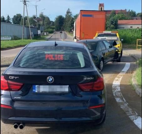 Zawady. Wypadek na drodze DK64 Jeżewo Stare - Łomża. Dwie osoby poszkodowane(zdjęcia)