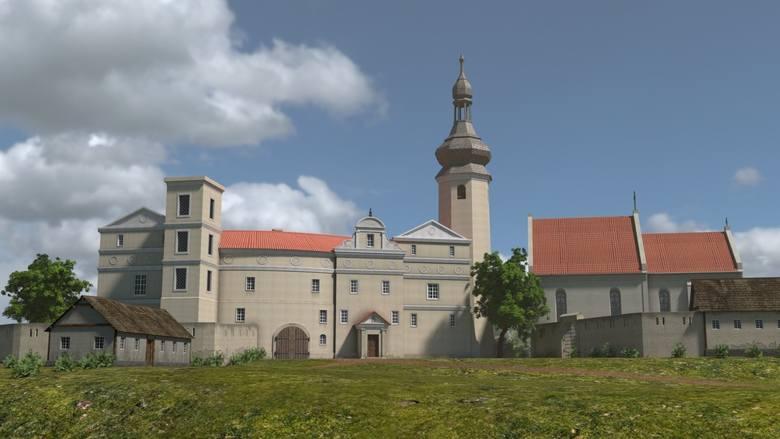 Tak wyglądał niegdyś zamek w Otmęcie (grafika).
