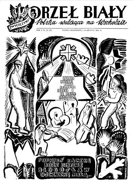 """Ryc. 9. """"Orzeł Biały"""" 24 grudnia 1942 r., nr 35, s. 1."""