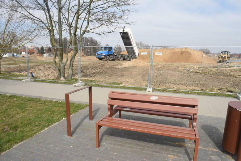 W Świebodzinie na błoniach powstaje park miejski. Mieszkanka się dziwi: Po co ta wycinka?