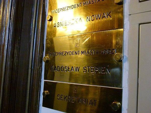 ... a tak w poniedziałek - już z tabliczką nowego wiceprezydenta Łodzi.