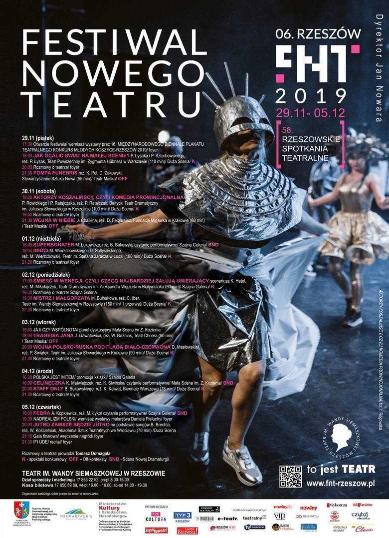 Już w piątek 29 listopada rozpocznie się w Rzeszowie 6. edycja Festiwalu Nowego Teatru