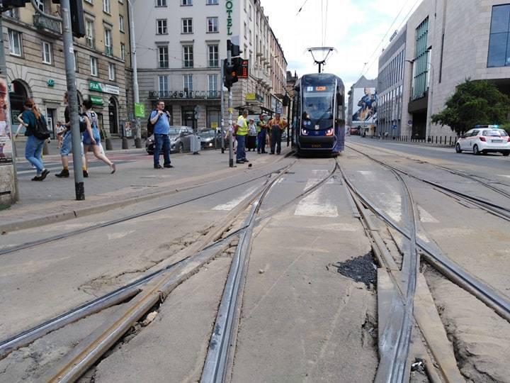 Znów wykoleił się tramwaj we Wrocławiu. Już trzeci dzisiaj!