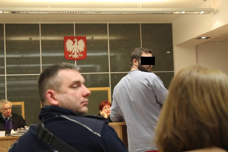 Oskarżony Mariusz Z. w sądzie
