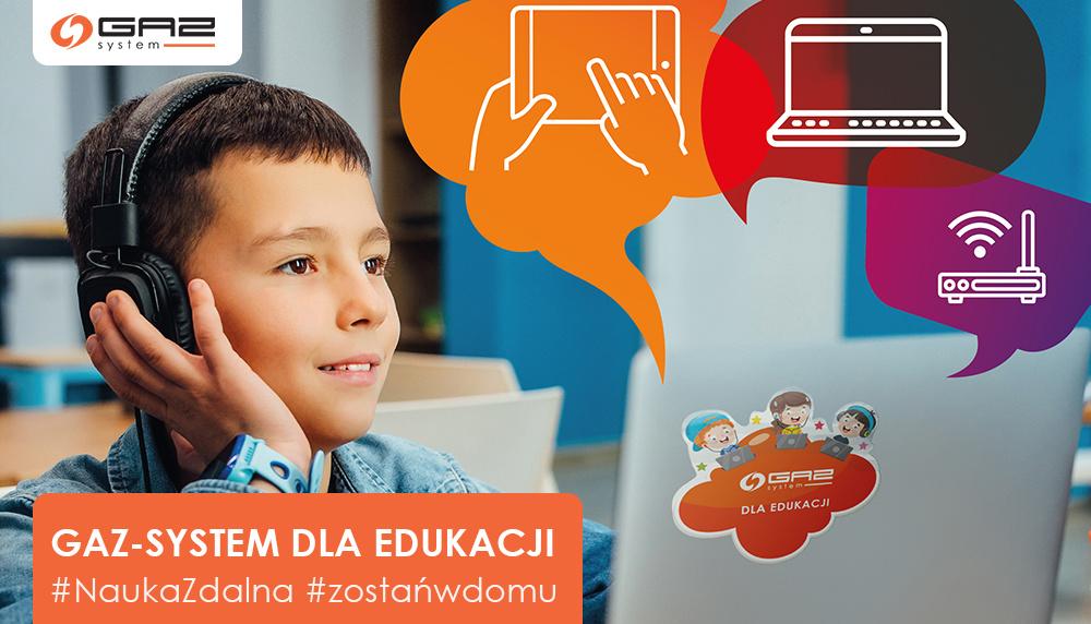 """GAZ-SYSTEM realizuje program społeczny """"GAZ-SYSTEM dla edukacji"""""""