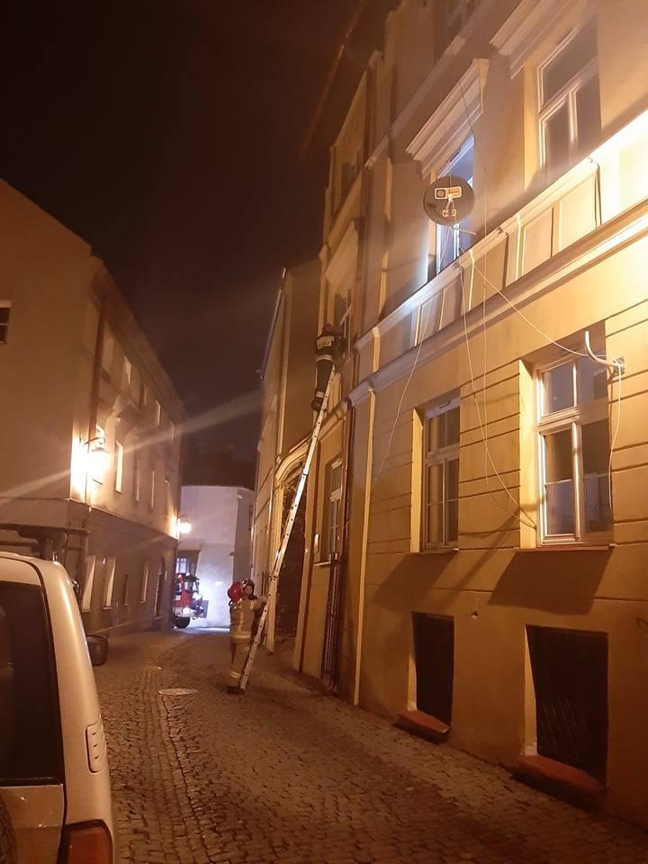 Interwencja straży pożarnej na Starym Mieście w Lublinie