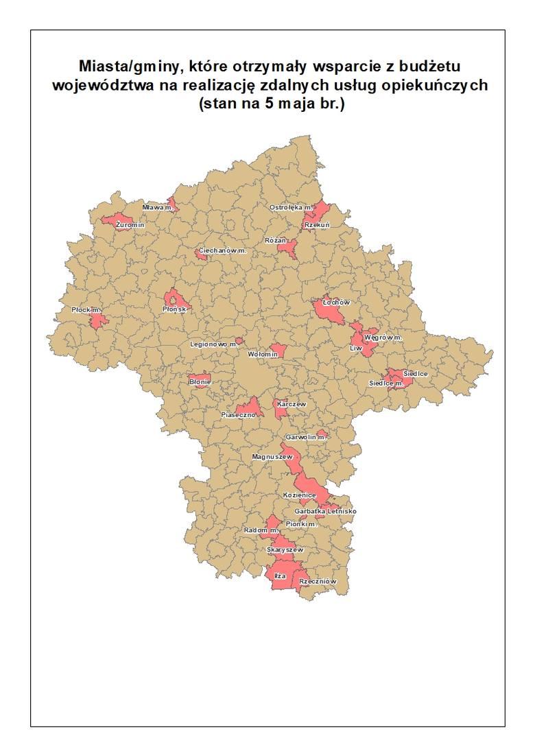 mapa Departament Cyfryzacji, Geodezji i Kartografii UMWM