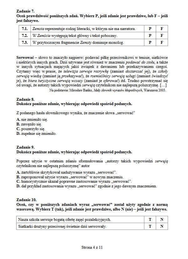 latarnik sprawdzian ze znajomości lektury pdf