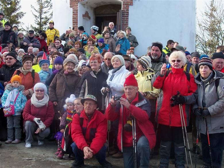 Polacy i Czesi witali Nowy Rok na Kopie Biskupiej.
