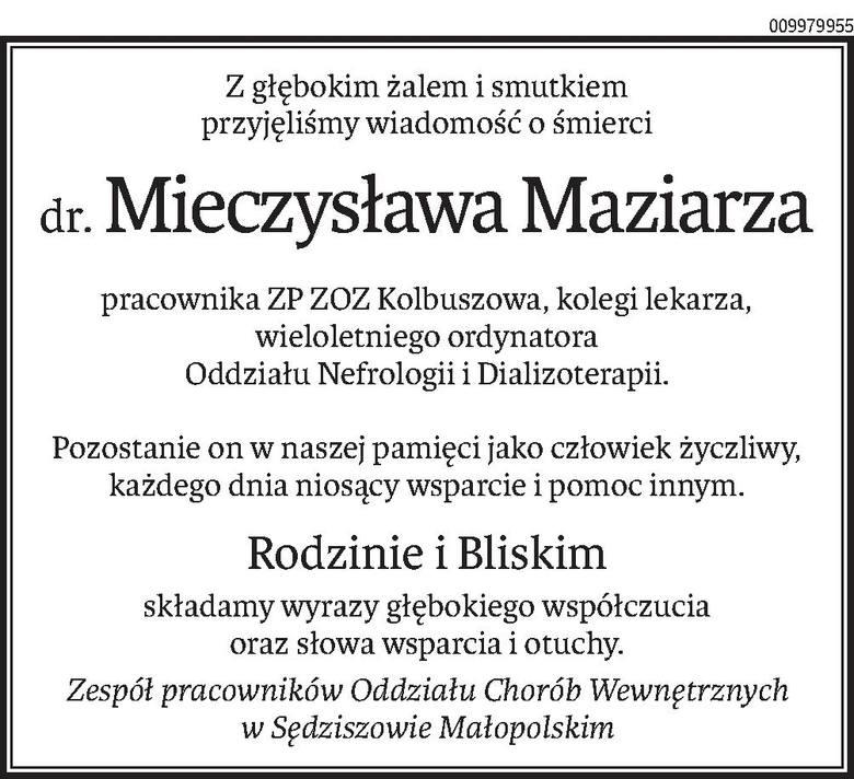 Nekrologi i kondolencje z dnia 09 grudnia 2020 r.