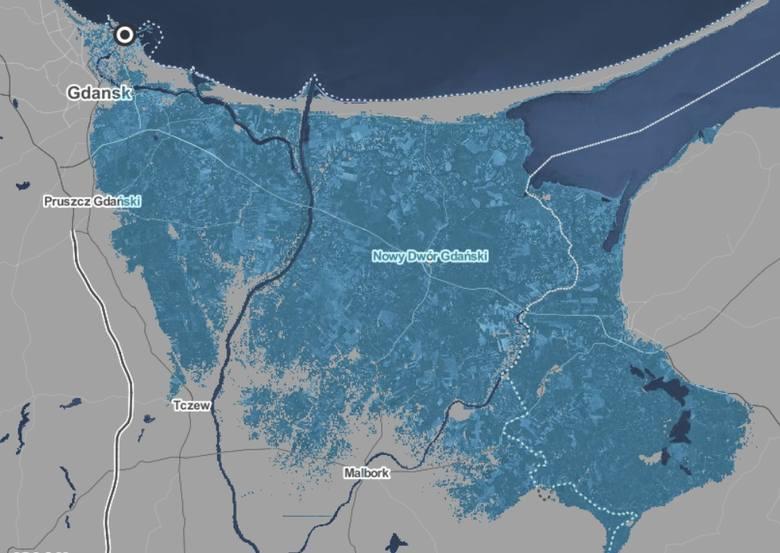 Podniesienie poziomy wody w Morzu Bałtyckim o 2 metry