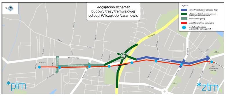Tramwaj i ulica Nowa Naramowicka mają rozwiązać komunikacyjne problemy osób mieszkających na północy Poznania
