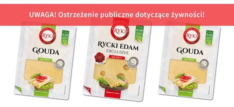 Główny Inspektorat Sanitarny wycofał ze sprzedaży jedną partię sera żółtego w plasterkach produkowanego przez Spółdzielnię Mleczarską Ryki