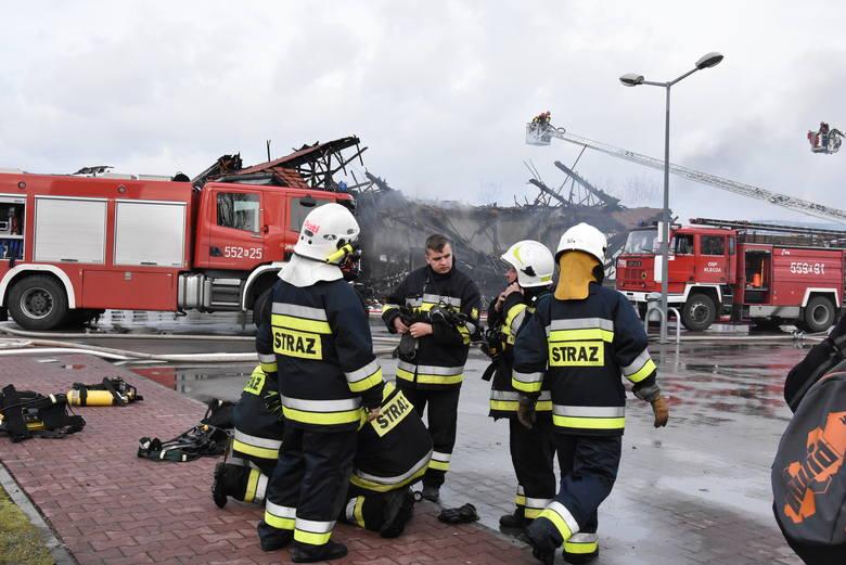 Pożar sklepu Lidl w Wadowicach