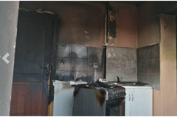 Tak wygląda kuchnia po spaleniu. To w niej pojawił się najpierw ogień