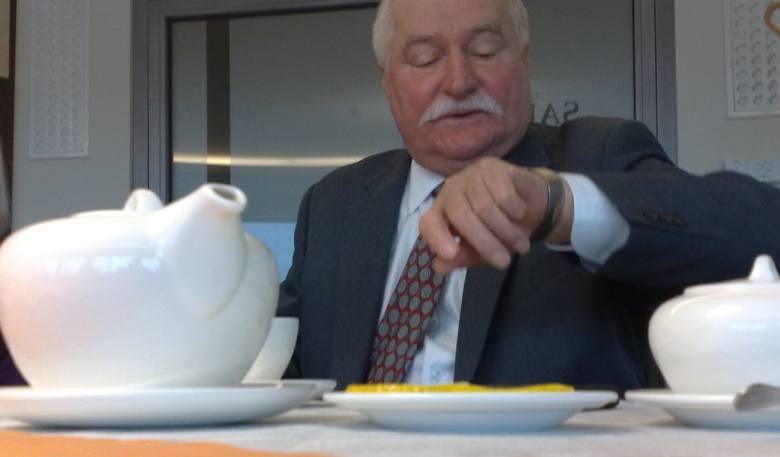 Lech Wałęsa dzień zaczął od śniadania w towarzystwie marszałka i wicemarszałek woj. lubuskiego.