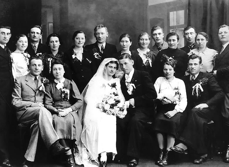 5 luty 1939 roku. Wesele wujostwa - Bolesława i Marii Cieleckich.